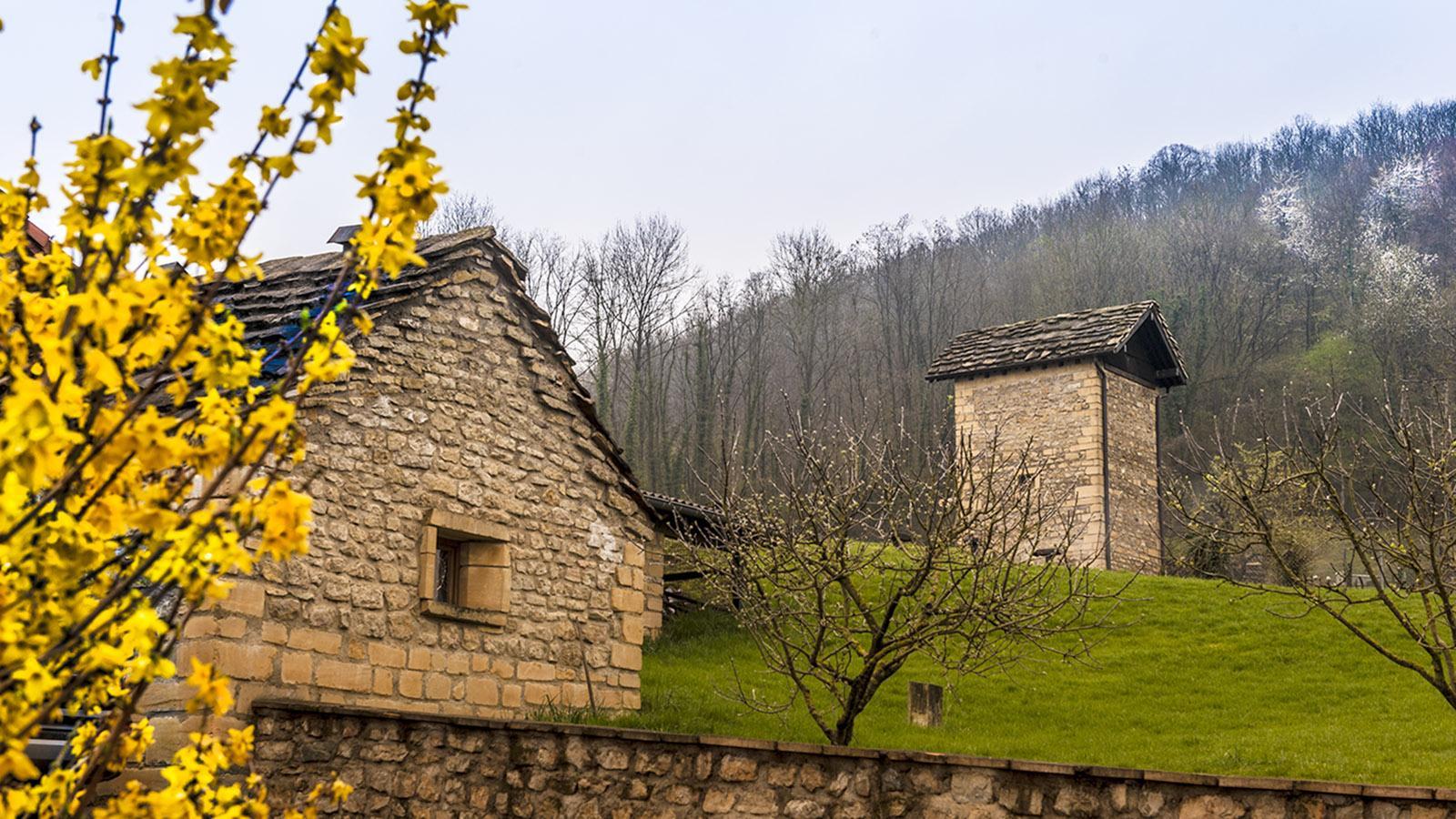 Eigenhändig erbaut: der tour à jambon, der Schinkenturm. Foto: Hilke Maunder