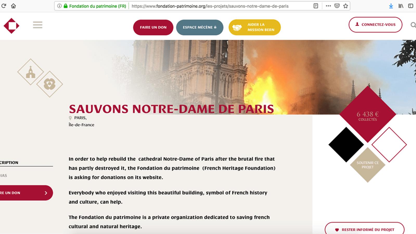 Spendet für den Wiederaufbau für Notre-Dame de Paris!