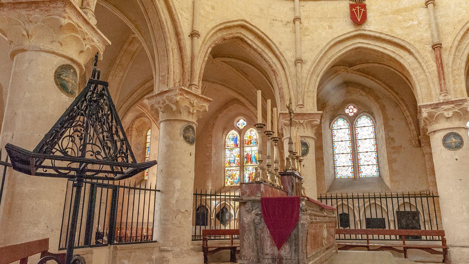 Provins: Das Kircheninnere von St-Quiriace. Foto; Hilke Maunder