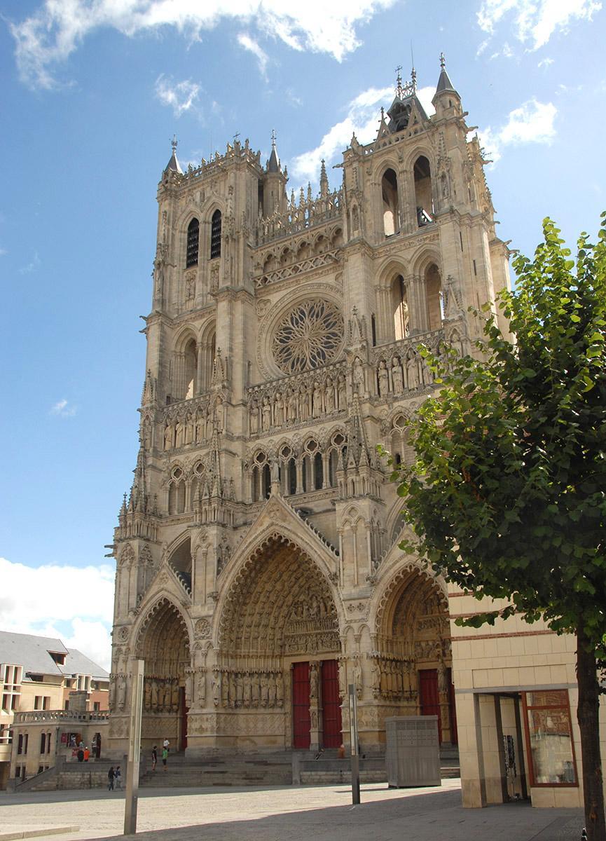 Die Westfassade der Kathedrale von Amiens. Foto: Hilke Maunder