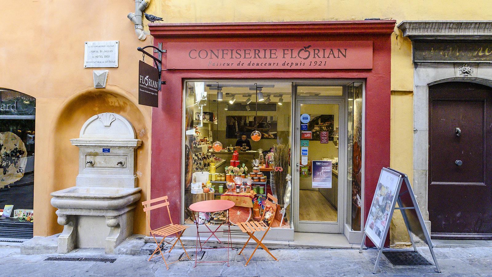 Grasse: Confiserie Florian - bei Naschkatzen eine bekannte Adresse. Foto: Hilke Maunder