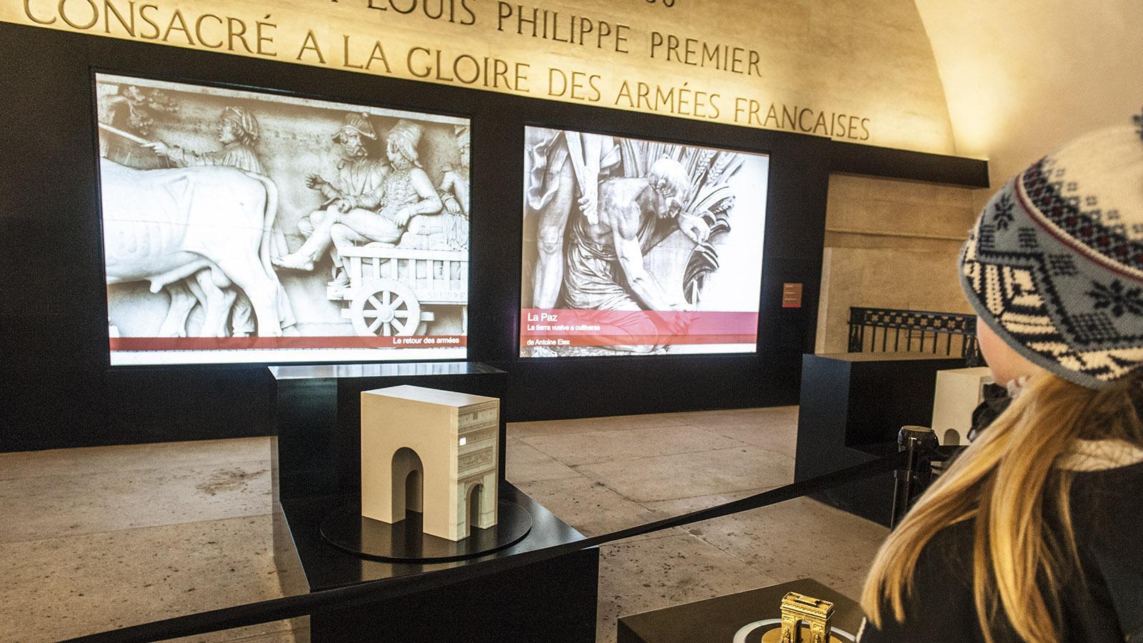 Paris. Das Museum im Arc de Triomphe. Foto: Hilke Maunder