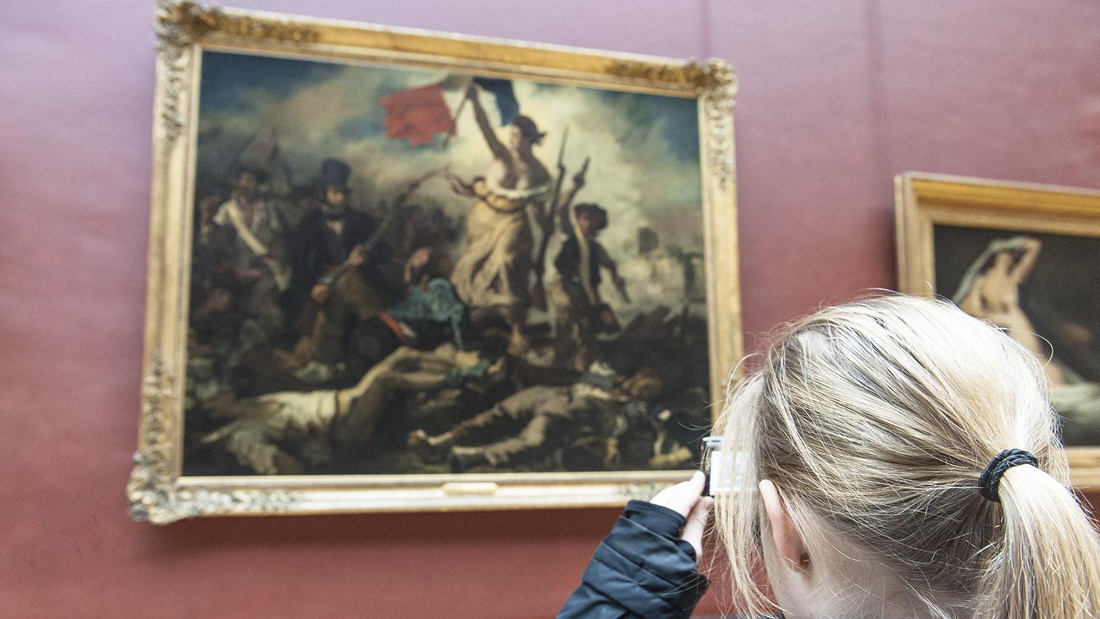 Die Marianne im Louvre von Paris. Foto: Hilke Maunder