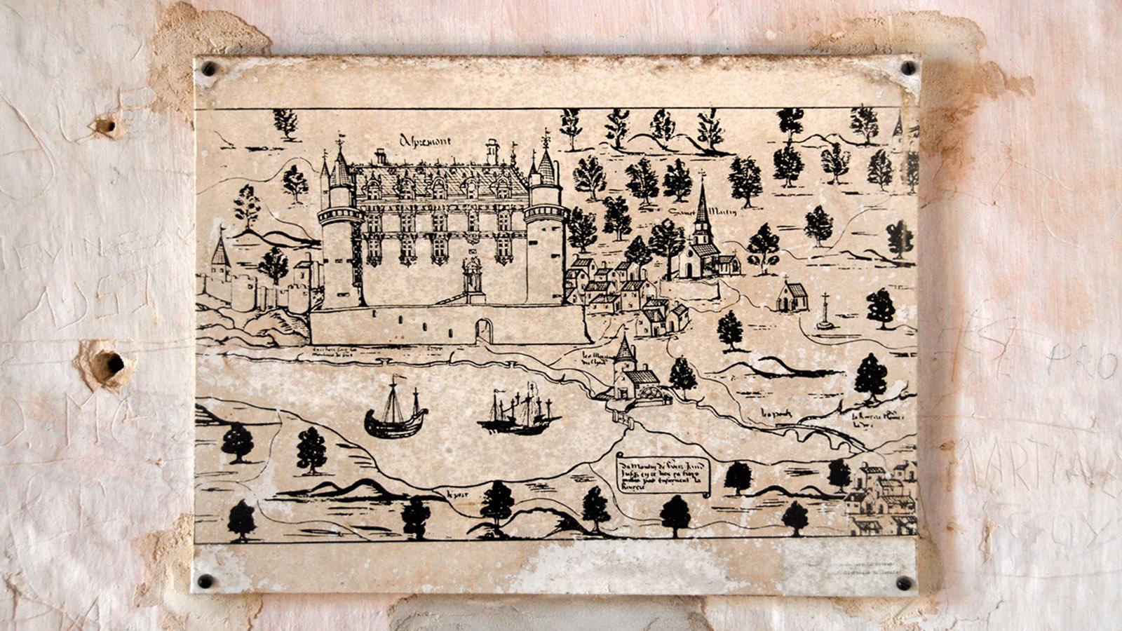 Château d'Apremont: So sah es einst aus. Foto: Hilke Maunder
