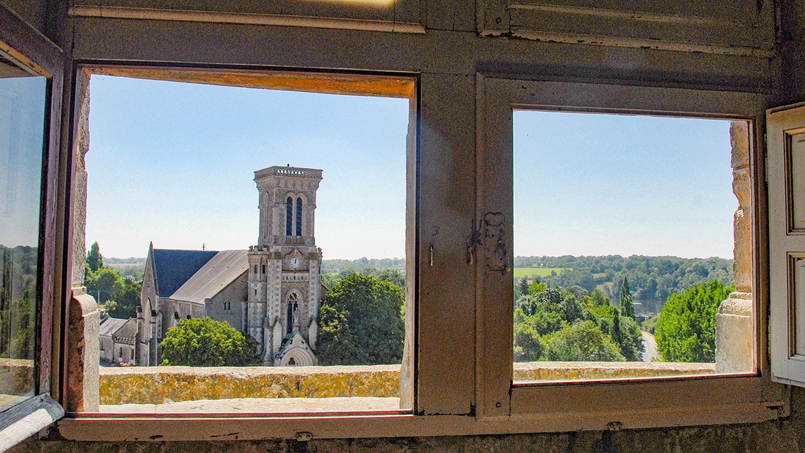 Apremont. Aussicht vom Rundturm des Schlosses. Foto: Hilke Maunder
