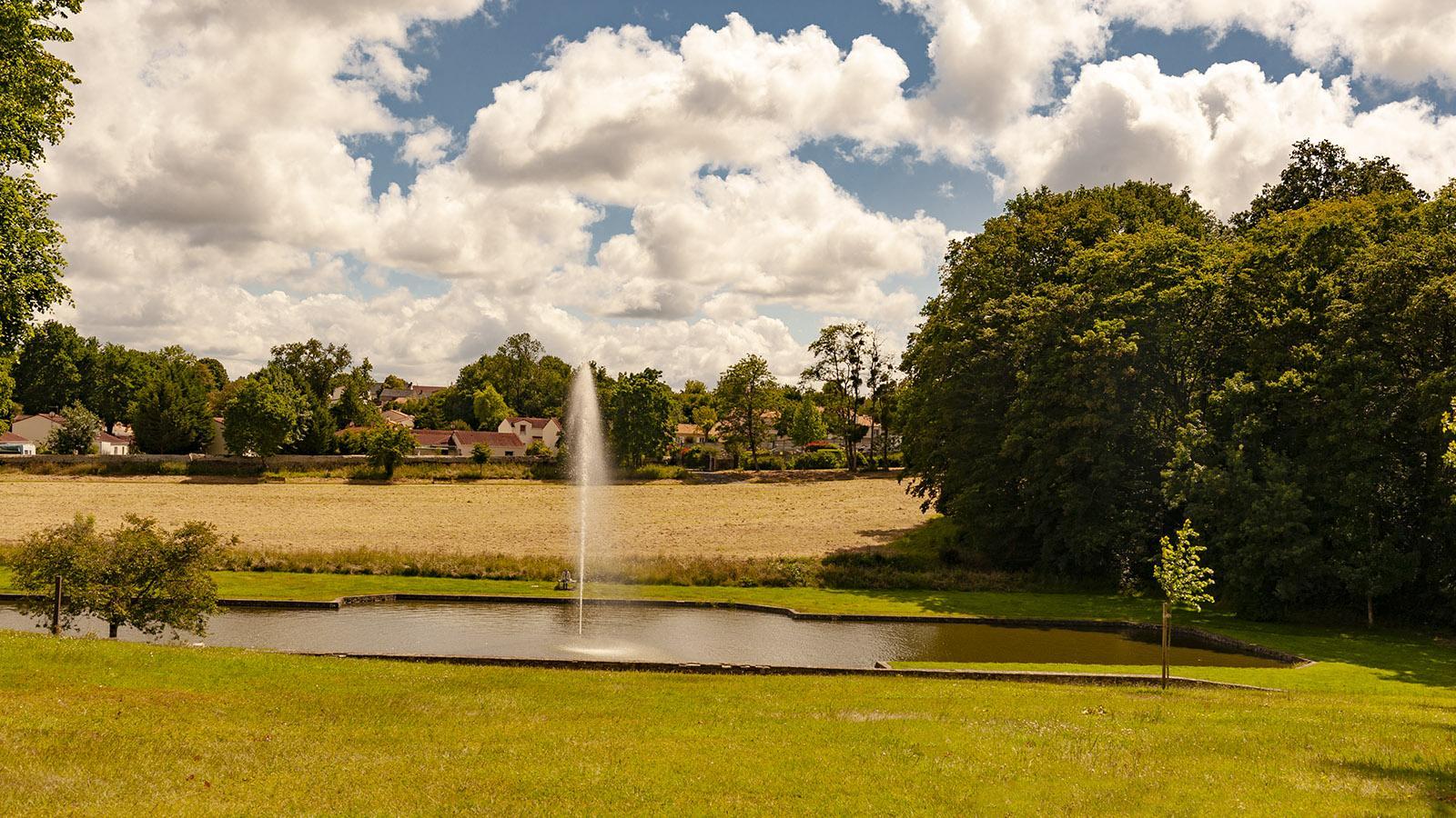 Estuaire: die Fontäne von Château du Pé. Foto: Hilke Maunder