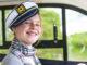 Hausbootörn Vilaine: Meine Tochter durfte auch einmal Kapitän spielen. Foto: Hilke Maunder