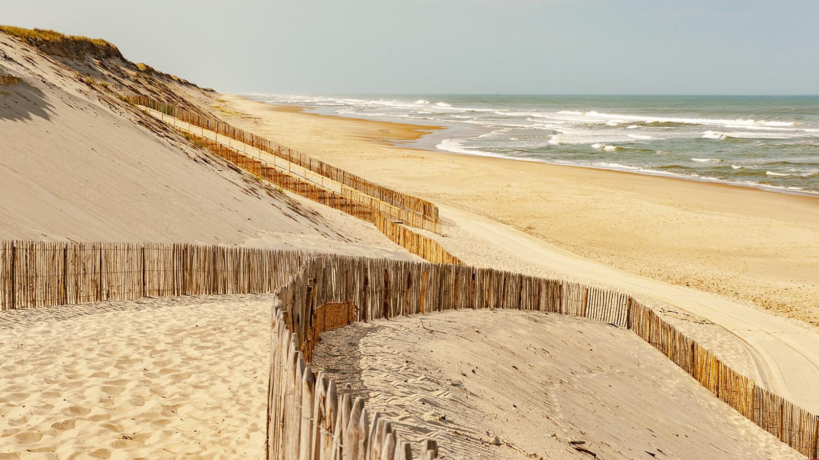 Im Südwesten endet die Diagonale du Vide am Atlantik - wie hier am Strand von Hourtin. Foto: Hilke Maunder
