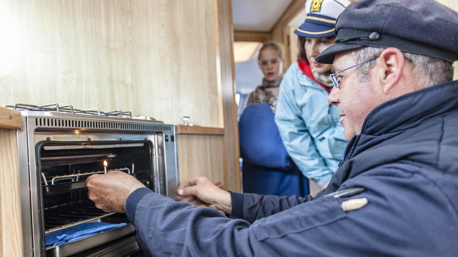 Le Boat: der Le Boat: der Backofen an Bord von MS Caprice. Foto: Hilke Maunder