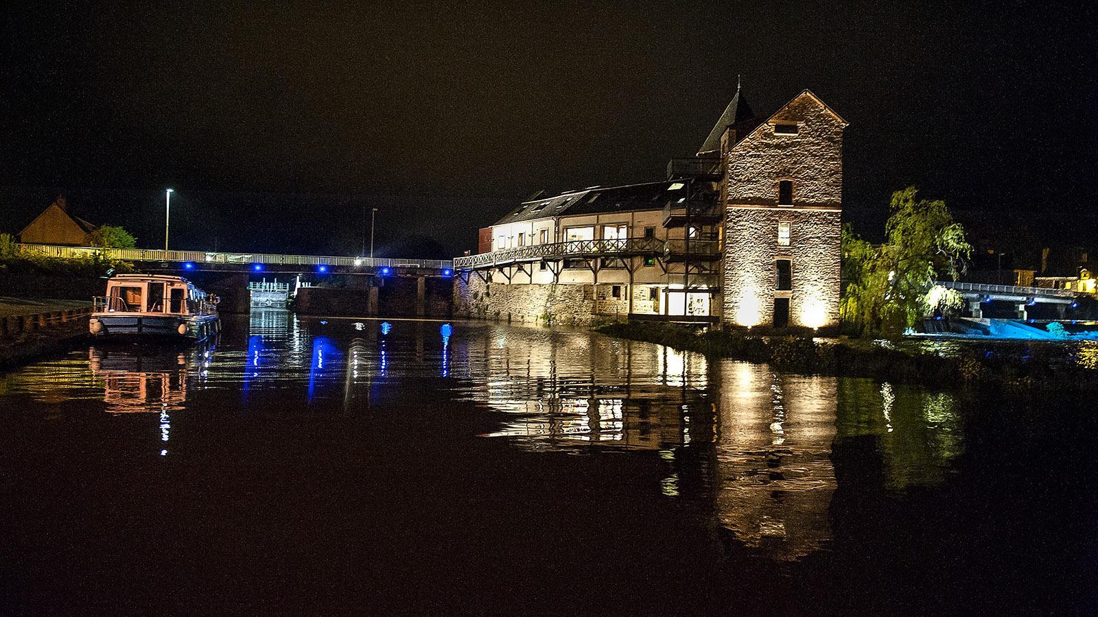 Nachts an der Vilaine bei Messac. Foto: Hilke Maunder