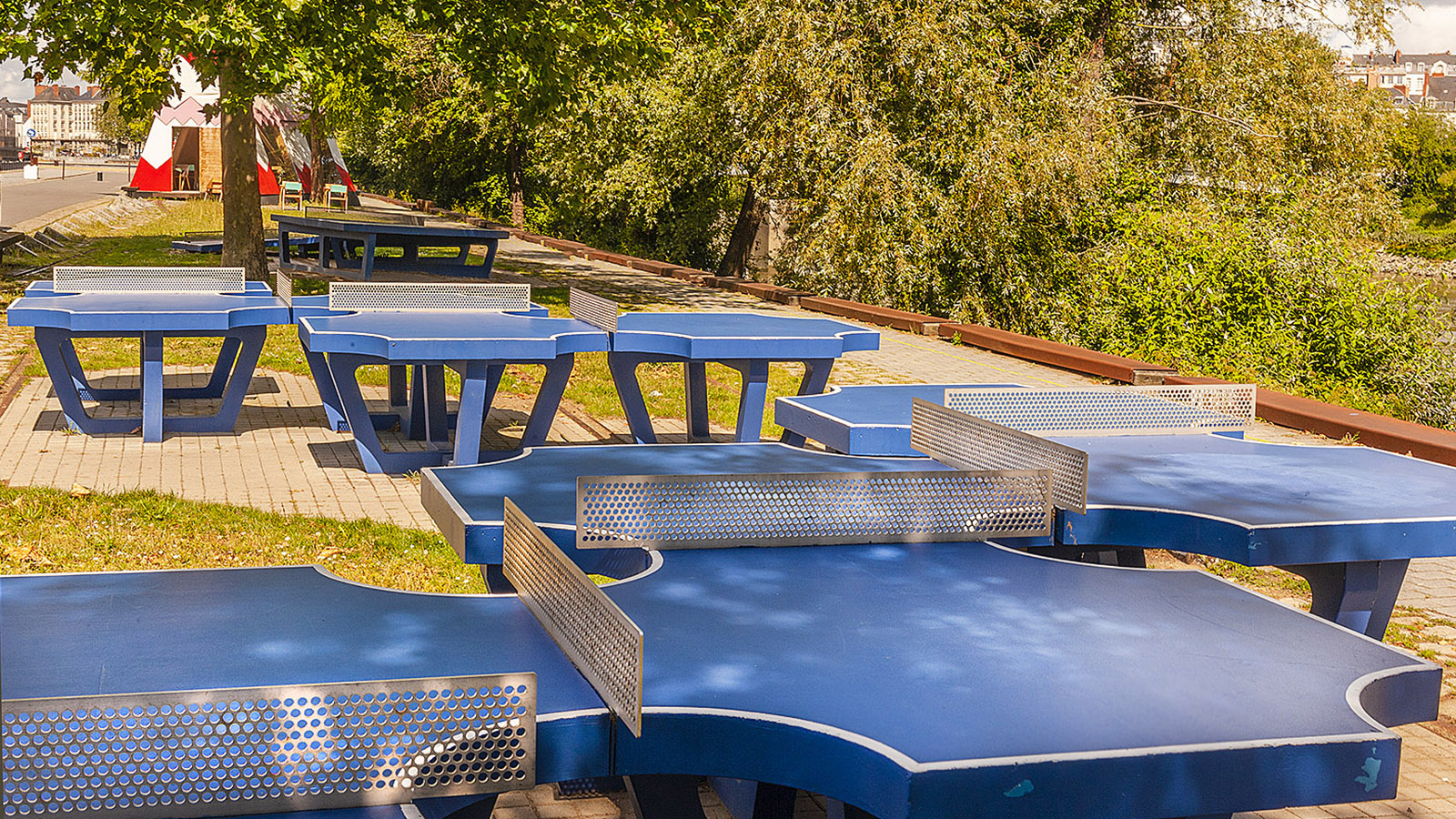 Estuaire in Nantes: der Ping-Pong-Park. Foto: Hilke Maunder
