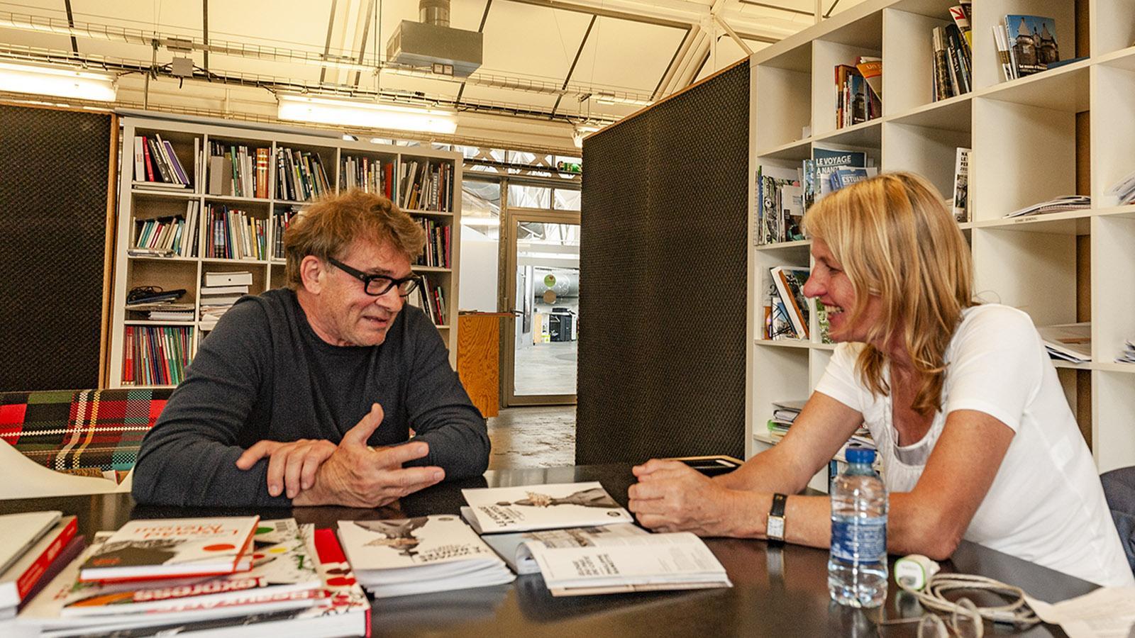 Nantes: Jean Blaise im Interview mit Hilke Maunder. Foto: Hilke Maunder