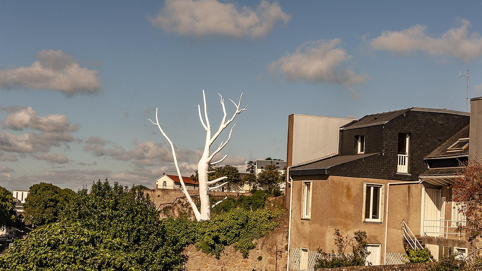Estuaire in Nantes: der Mondbaum von Mrzyk & Moriau im Stadtteil Chantenay. Foto: Hilke Maunder