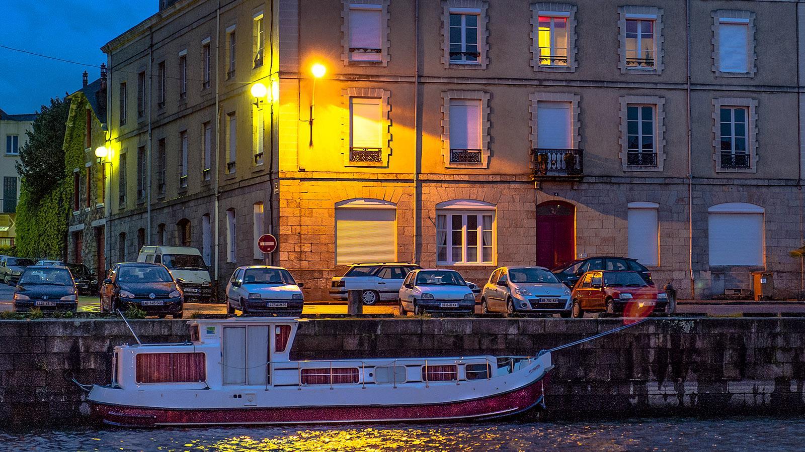 Redon: abends im Hafen. Foto: Hilke Maunder