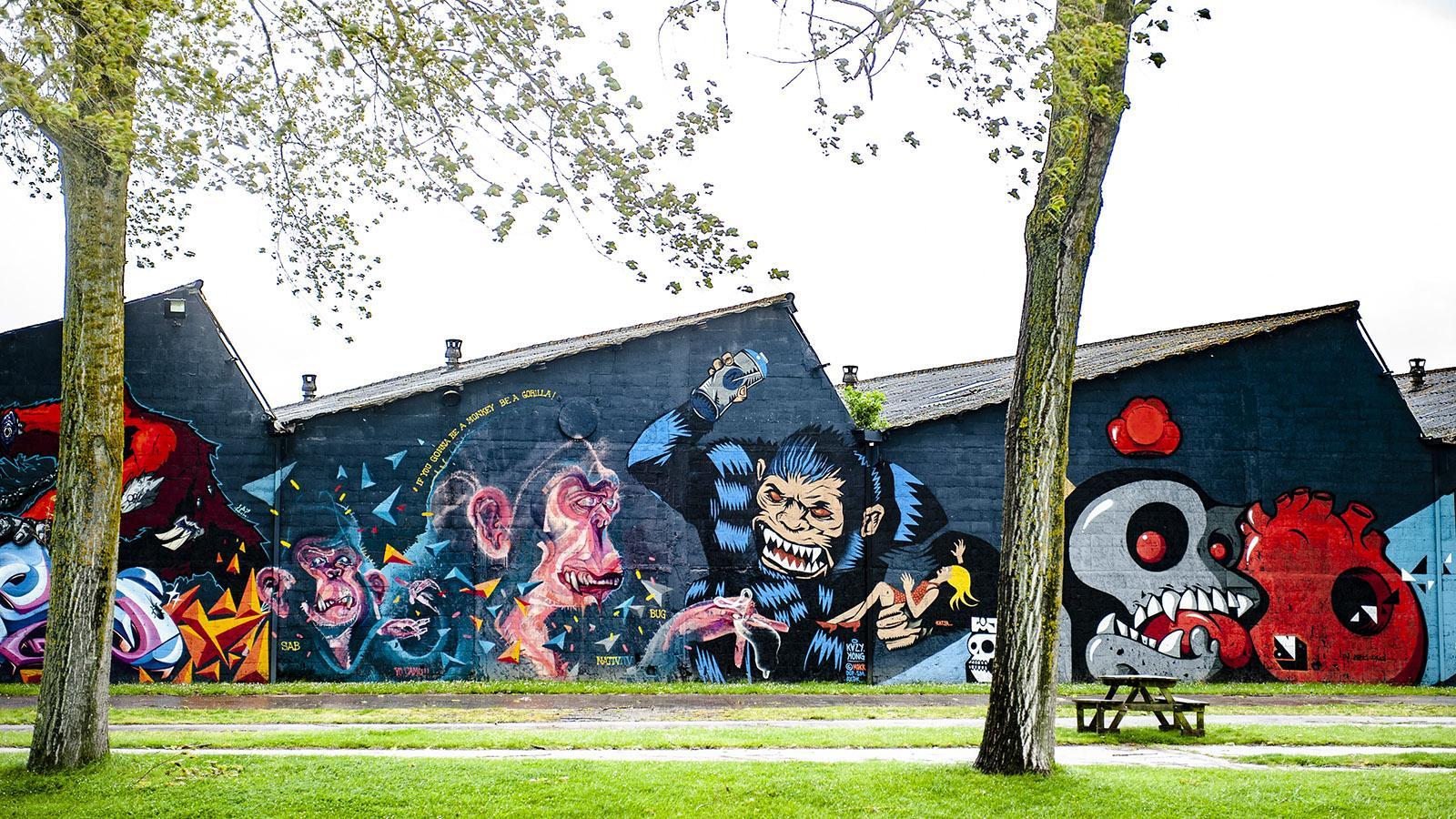 Redon: Street Art an der Vilaine. Foto: Hilke Maunder