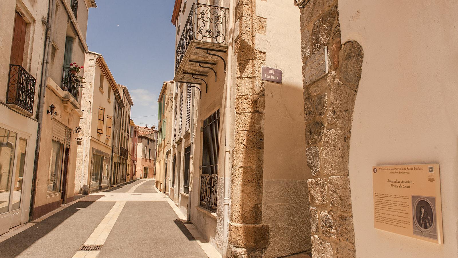 Saint-Paul-de-Fenouillet: Rue Arago. Foto: Hilke Maunder