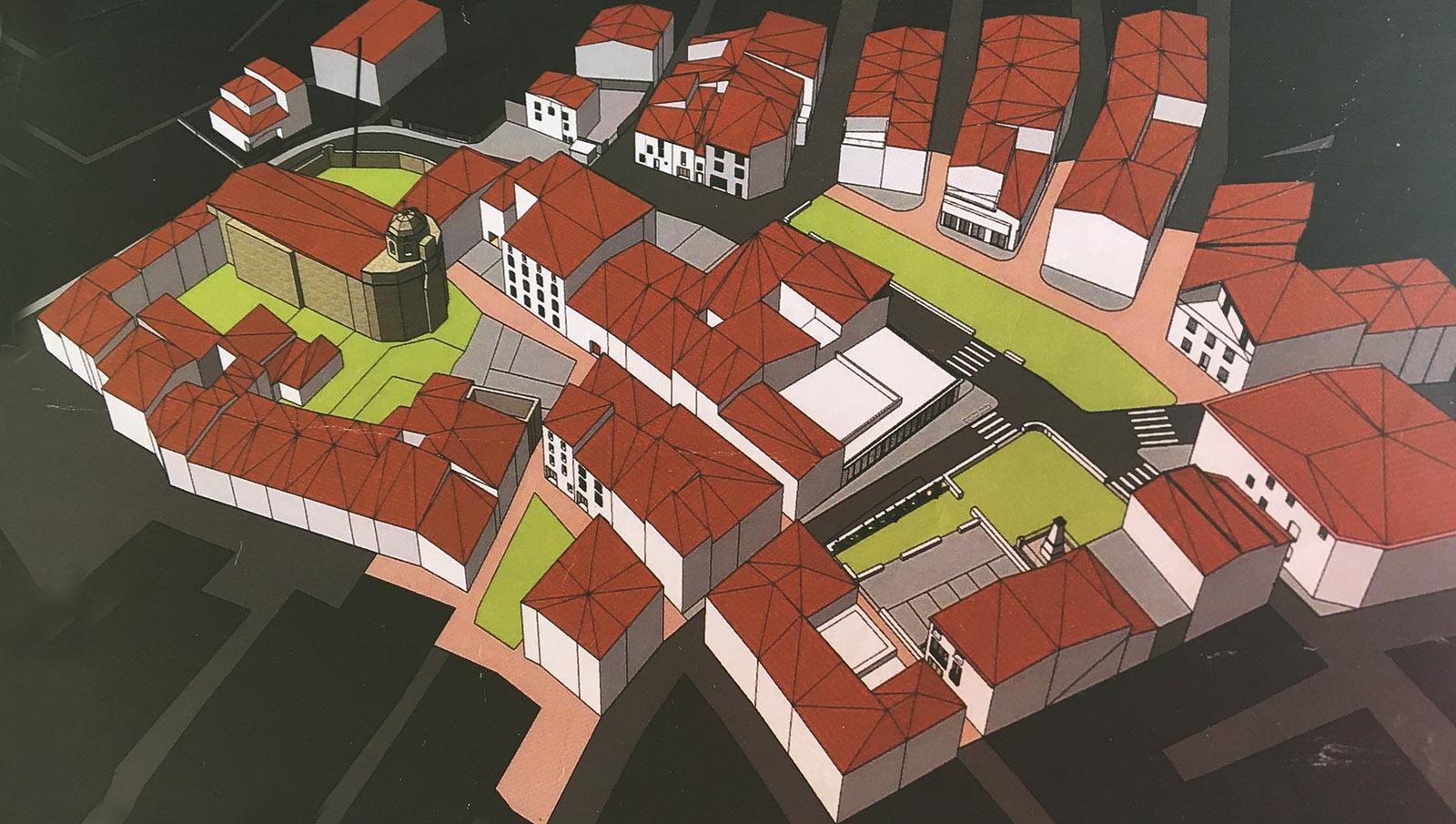 Noch eine Vision: das neue historische Herz von Saint-Paul-de-Fenouillet. Studie: AURCA