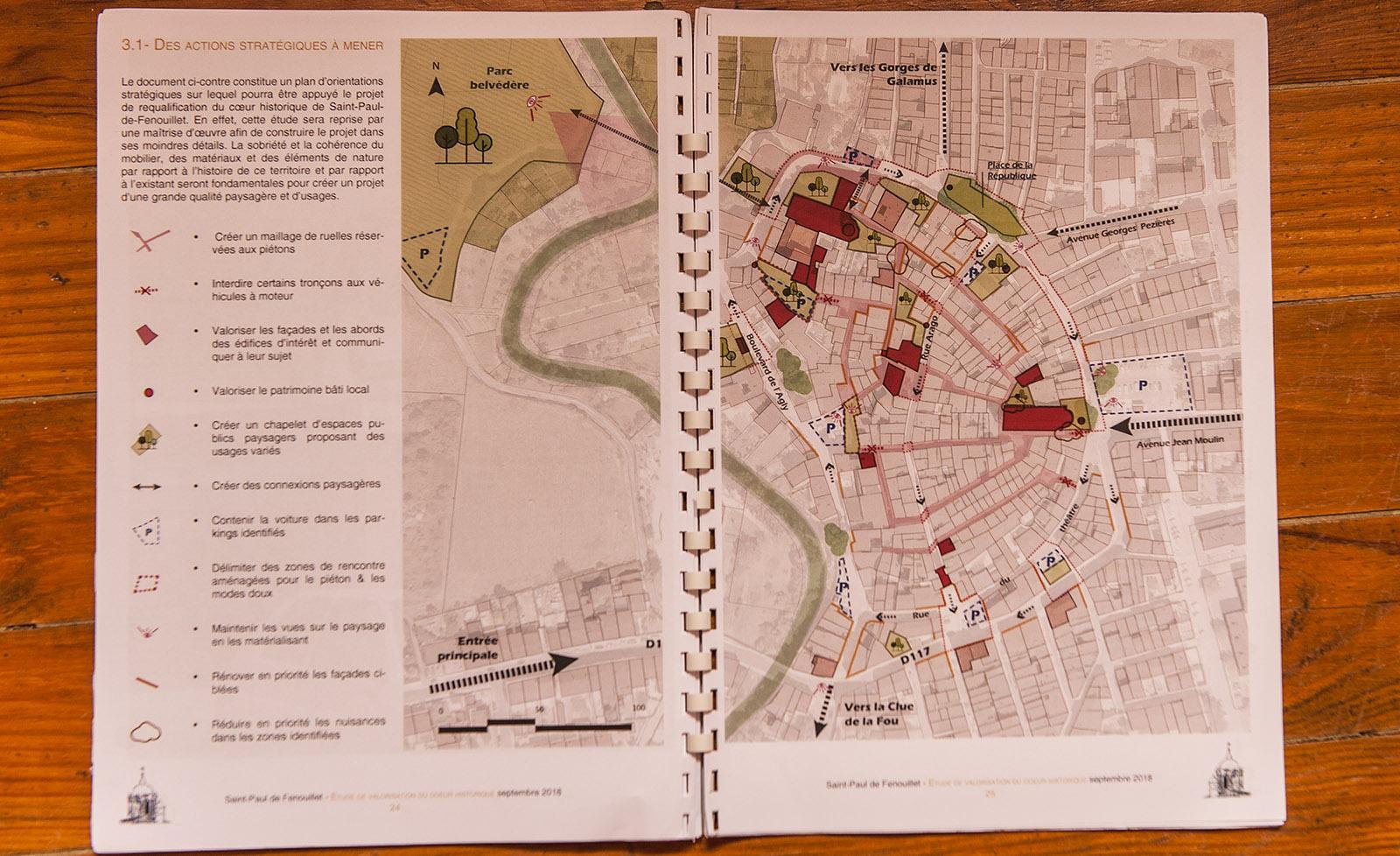 Saint-Paul-de-Fenouillet: Stadtplanung. Foto: Hilke Maunder