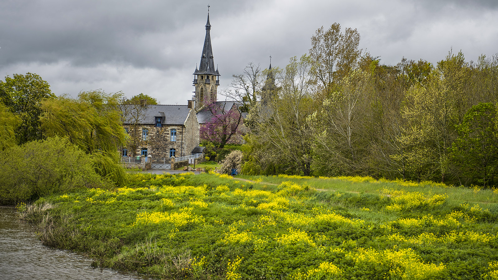 Blick auf Brain-sur-Vilaine. Foto: Hilke Maunder