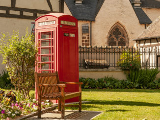 Aubigny: britische Telefonzelle. Foto: Hilke Maunder