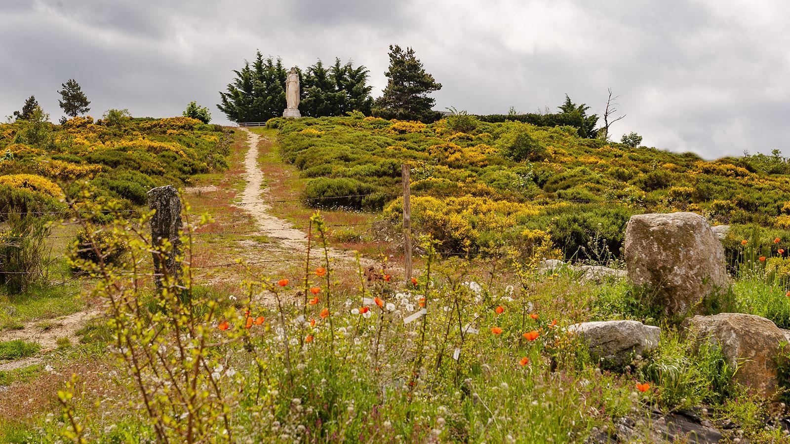 Aumont-Aubrac: Abgesperrt - der Weg zur Statue. Foto: Hilke Maunder