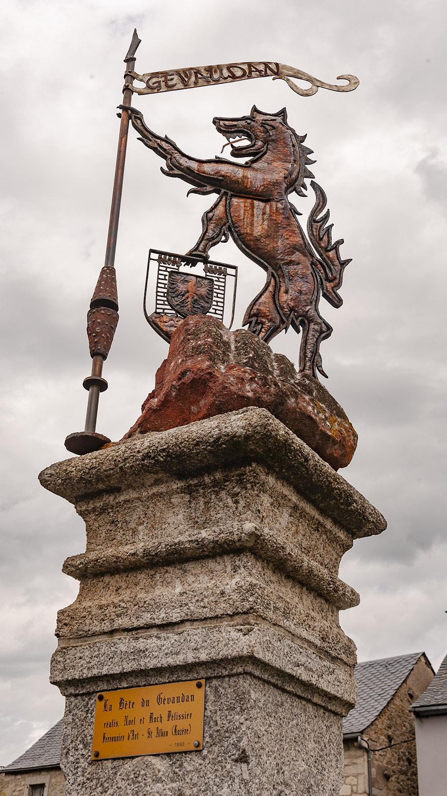 Aumont-Aubrac: die Bestie von Gévaudan. Foto: Hilke Maunder