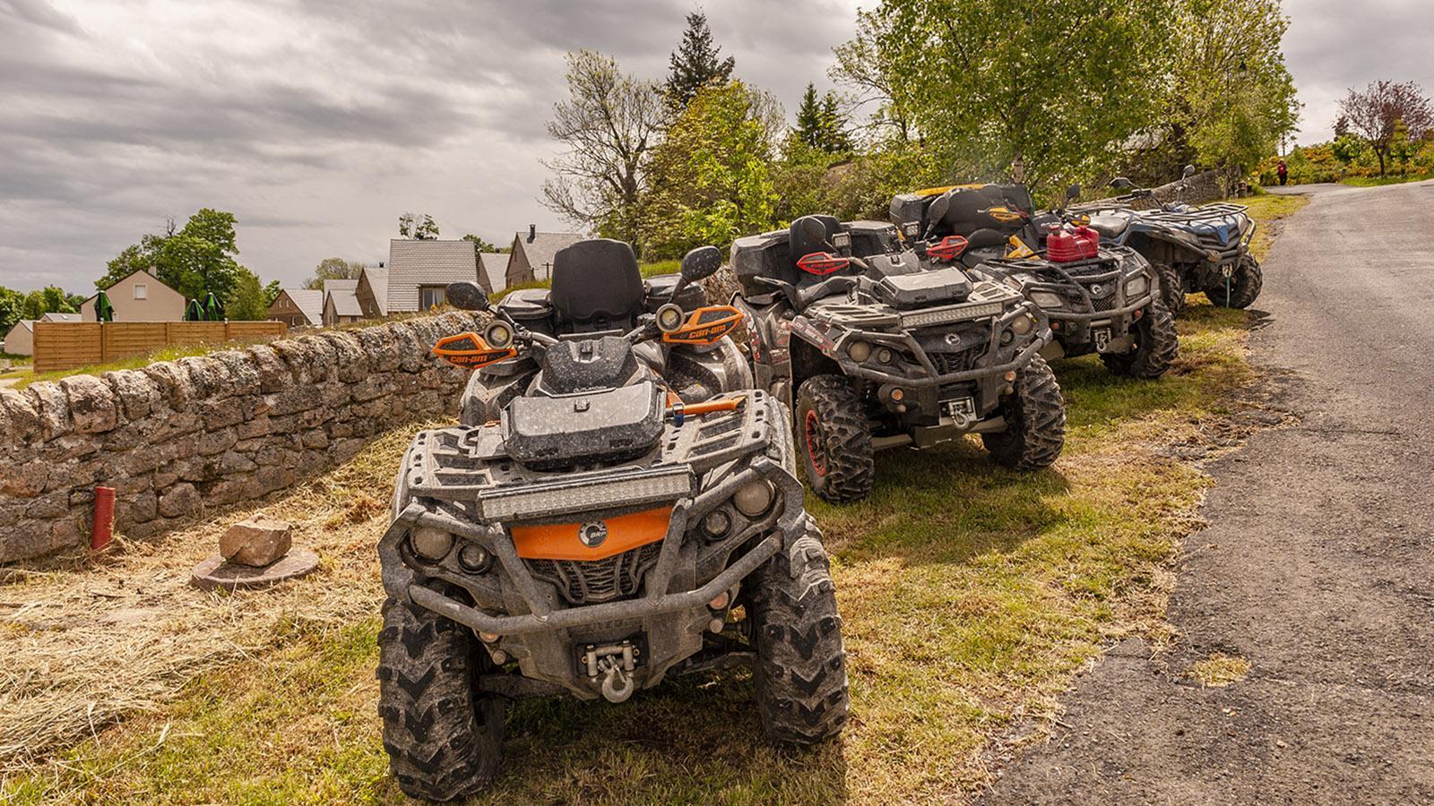 Aumont-Aubrac: Quad-Touren ins Umland sind sehr beliebt! Foto: Hilke Maunder