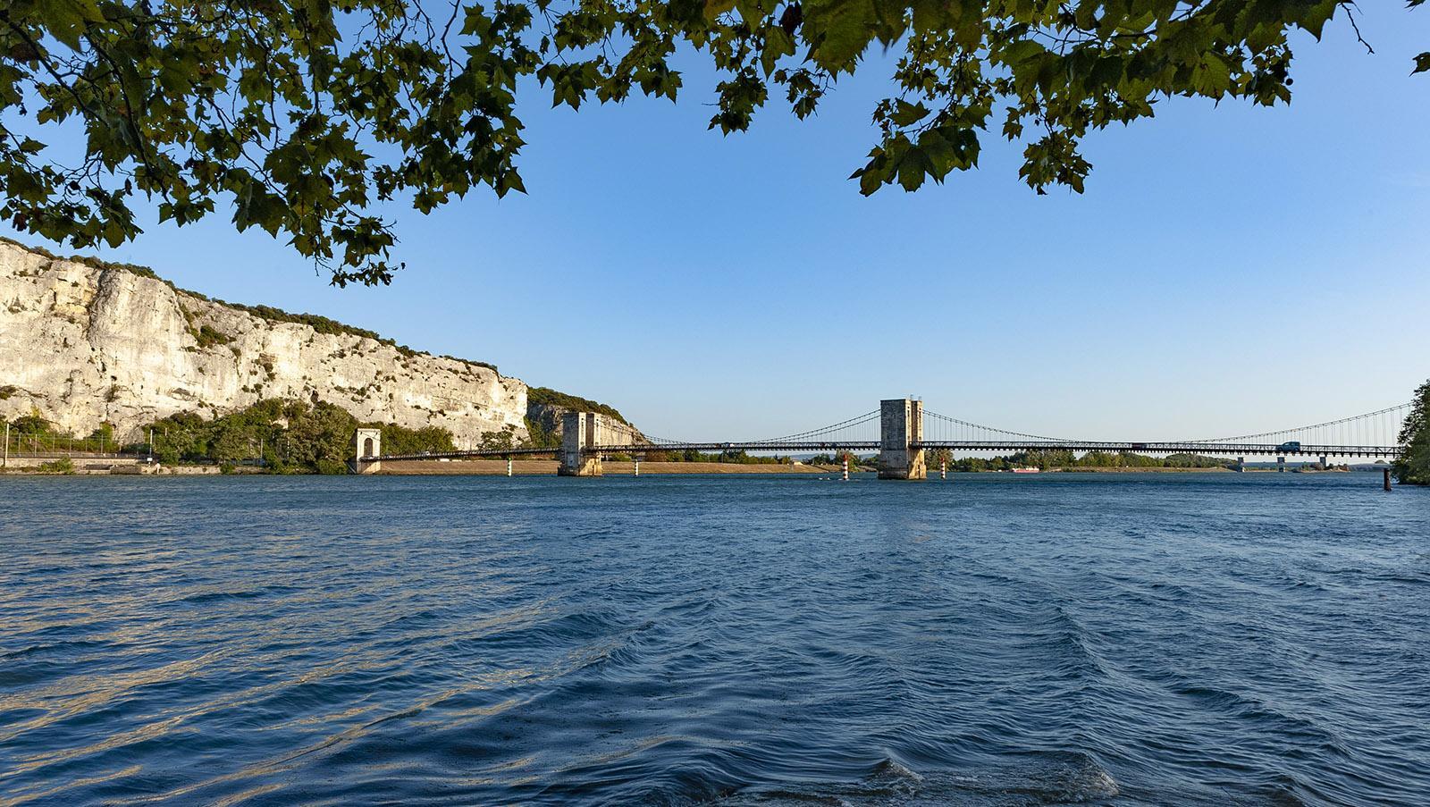 Flusskreuzfahrten in Frankreich: das Défilé de Donzère bei Viviers. Foto: Hilke Maunder