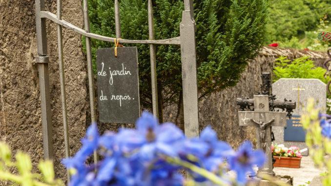 La Fajolle: Le jardin du repos - der Friedhof. Foto: Hilke Maunder