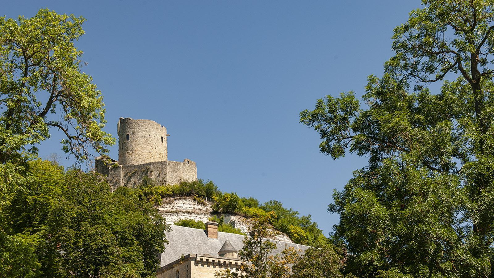 La Roche-Guyon: der Bergfried der Burg. Foto: Hilke Maunder