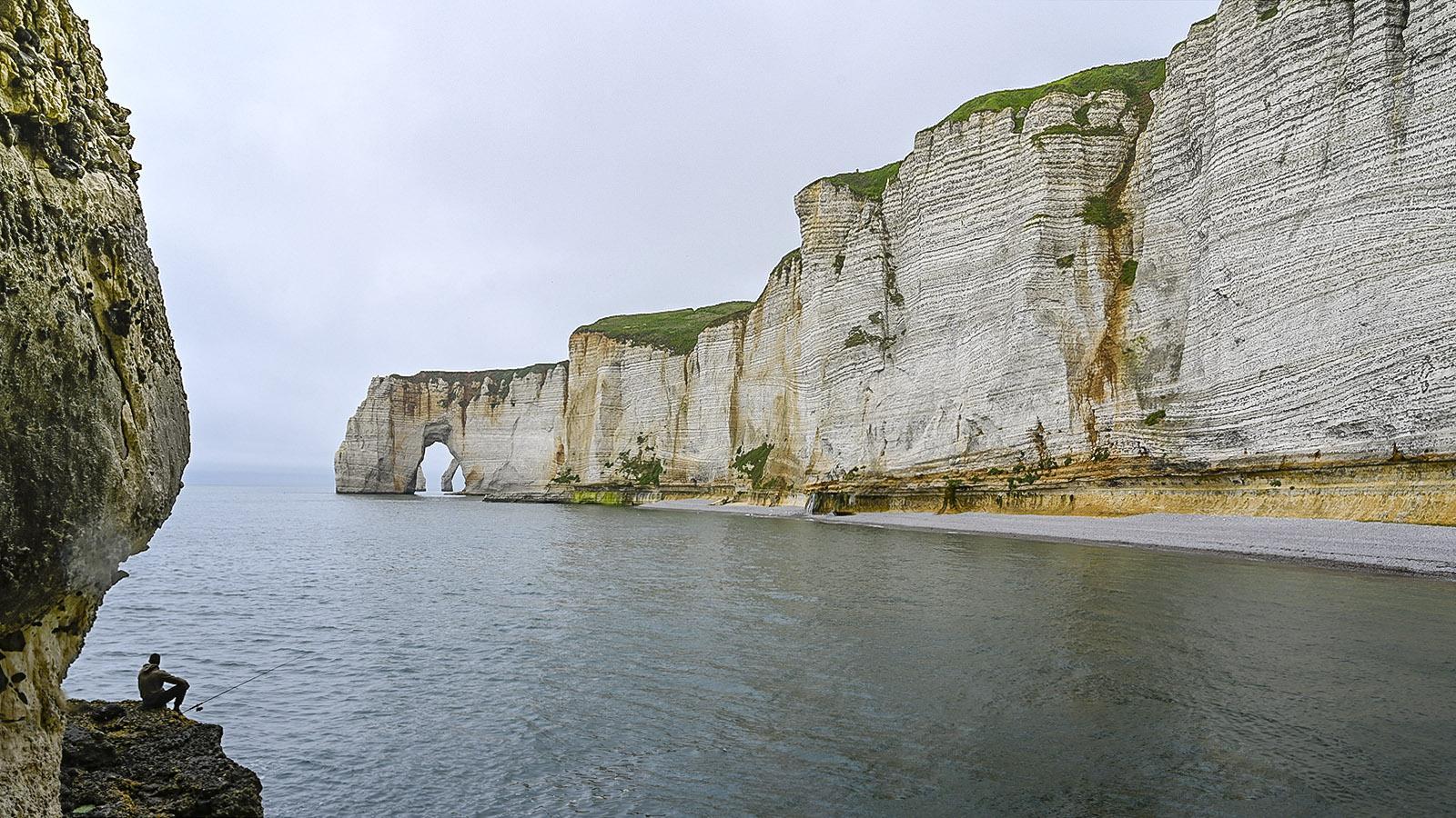 Die Alabasterküste bei Le Tilleuil. Foto: Hilke Maunder