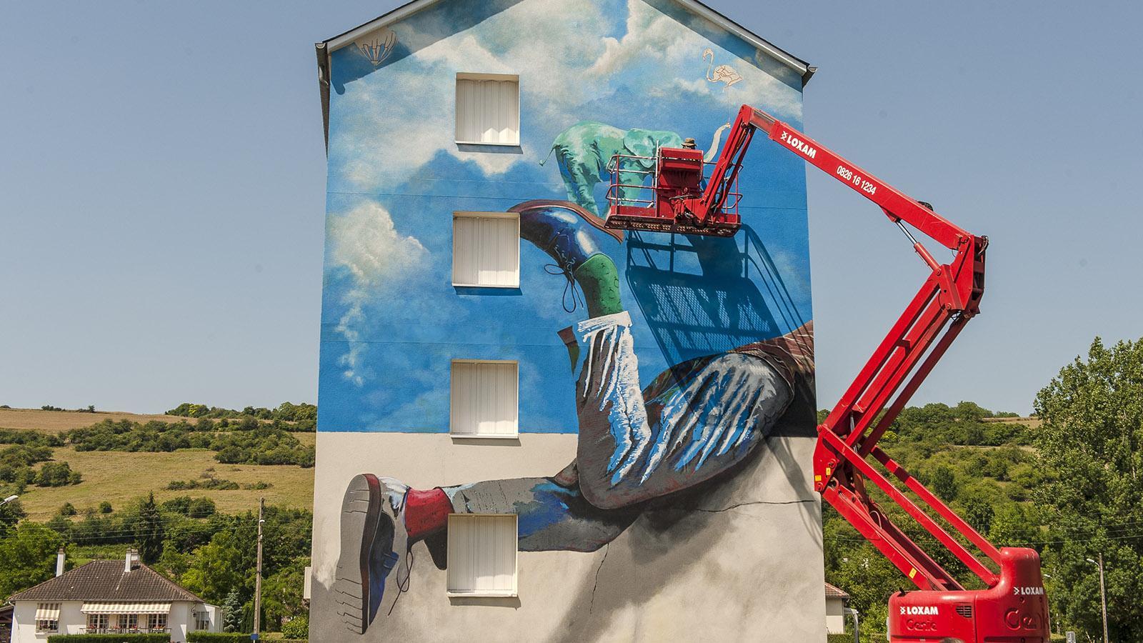 Les Andelys: Street Art. Foto: Hilke Maunder