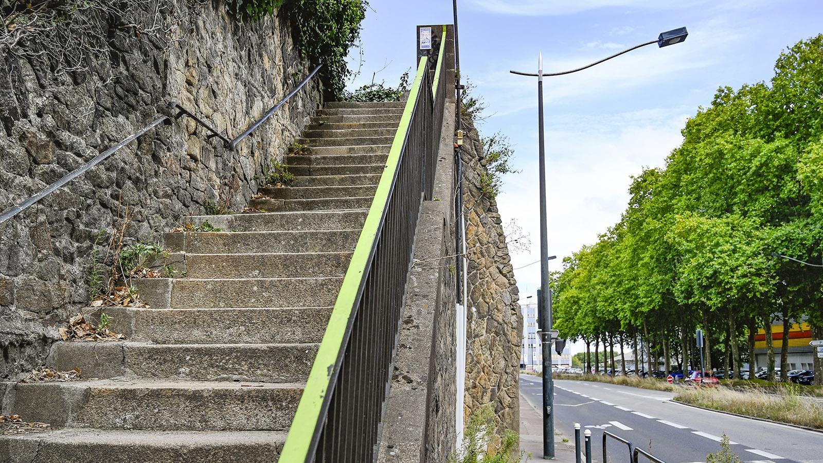Le Voyage à Nantes: Euer Wegweiser: das grüne Band. Foto: Hilke Maunder