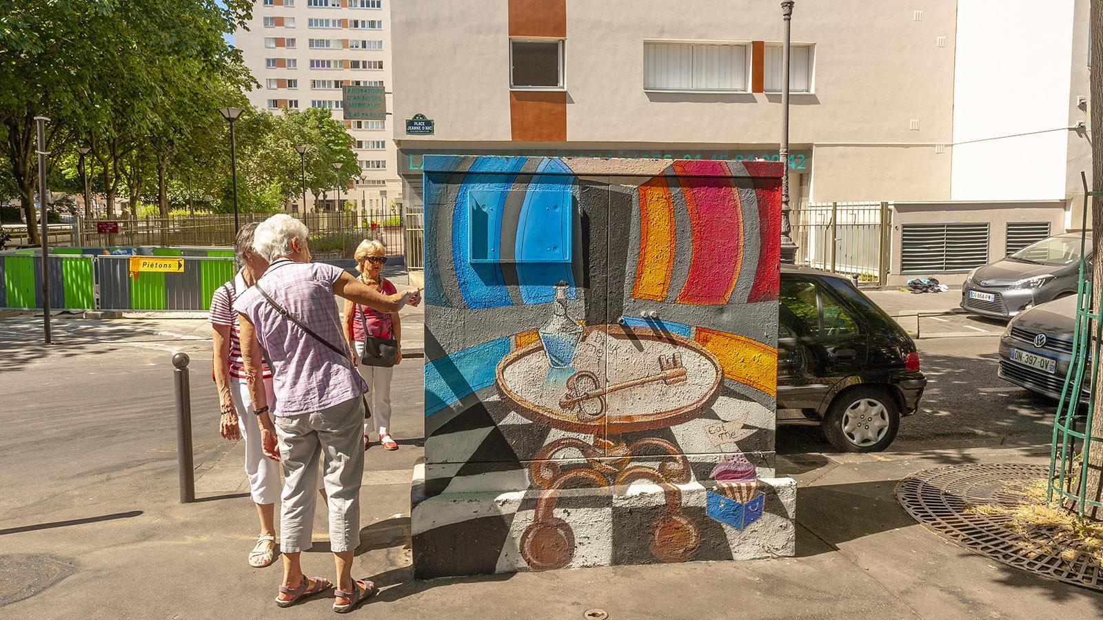 Street Art im 13e: Bemalter Stromkasten