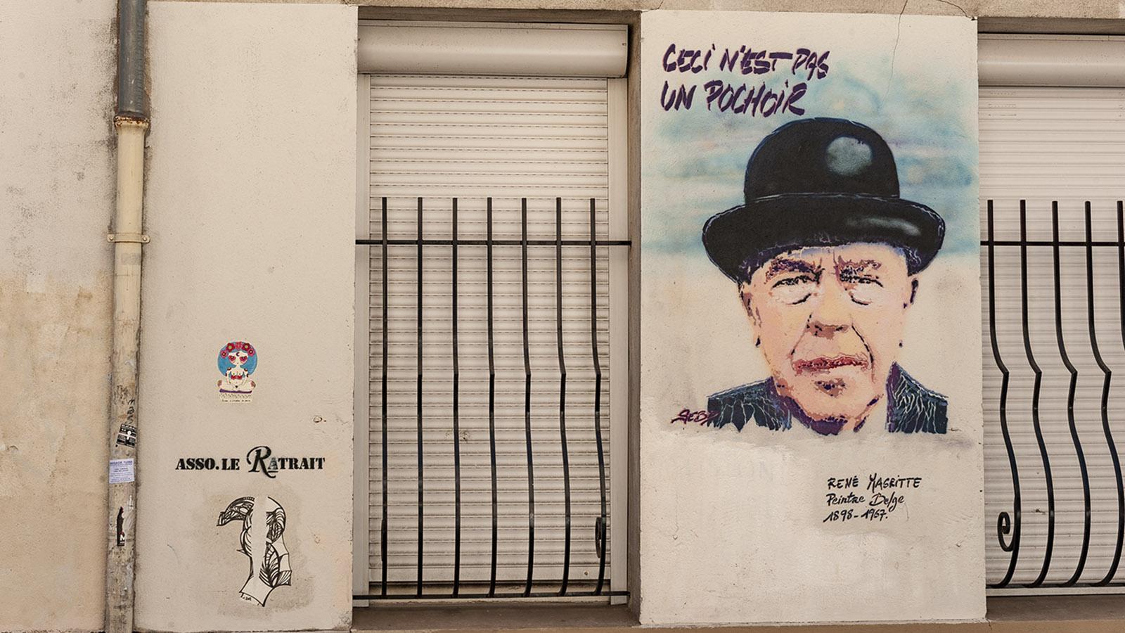 Rue du Retrait: René Magritte von SebD. Foto: Hilke Maunder