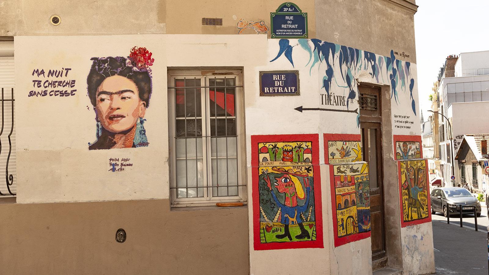 Rue du Retrait: Frida Kahlo von SebD (Sept. 2017). Foto: Hilke Maunder