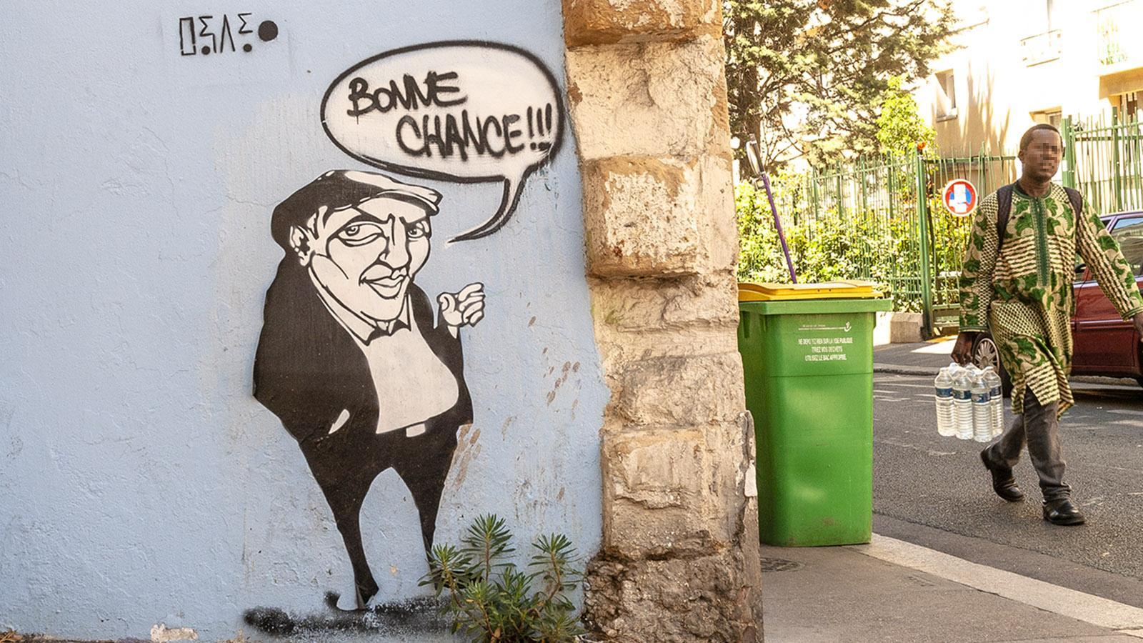 "Rue du Retrait: ""Bonne Chance"" von Rapido. Foto: Hilke Maunder"