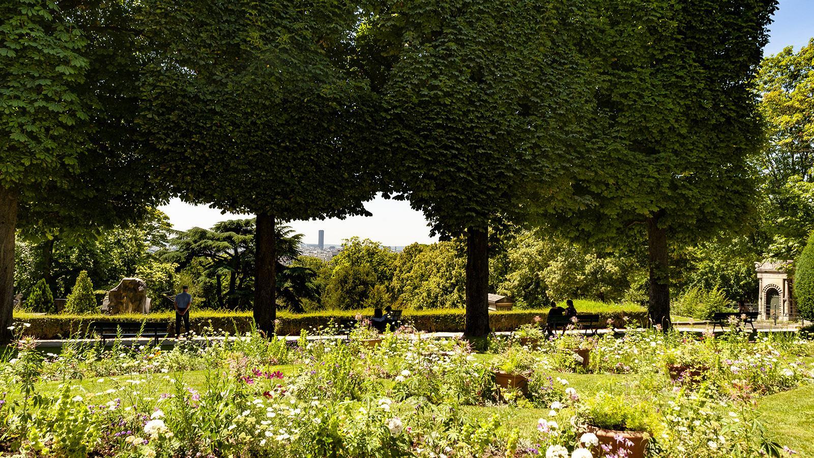 Paris: Friedhof Père Lachaise, Ausblick. Foto: Hilke Maunder