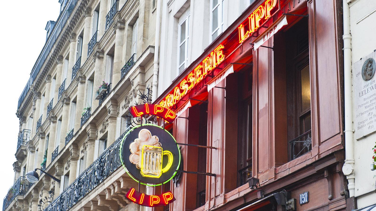 Saint-Germain-des-Prés. Legendär: die Brasserie Lipp. Foto: Hilke Maunder