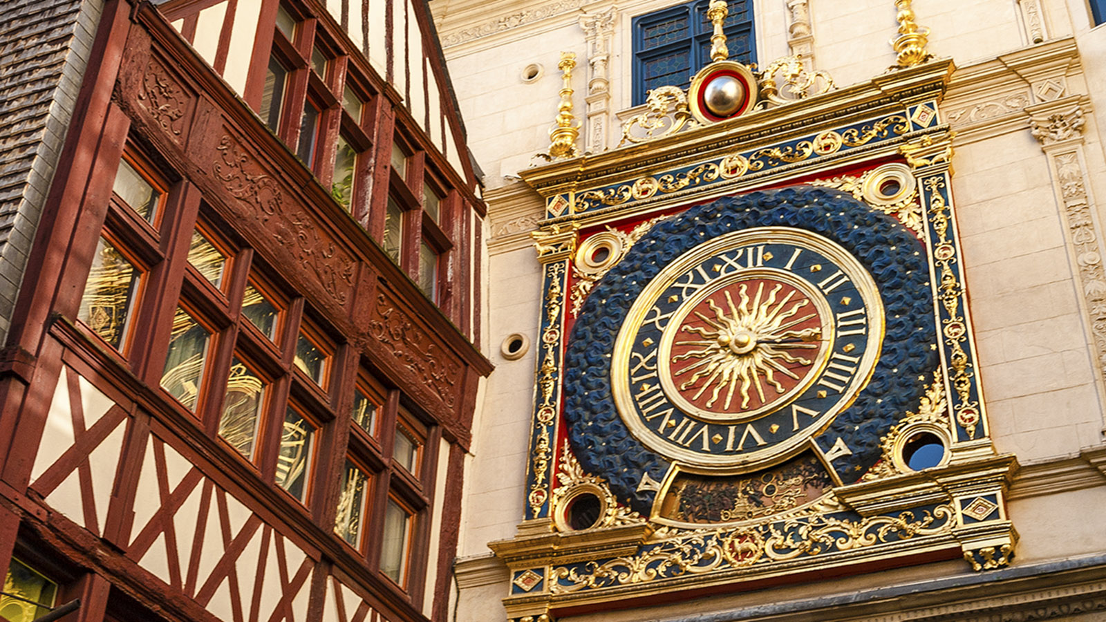 Rouen: die Gros Horloge. Foto: Hilke Maunder
