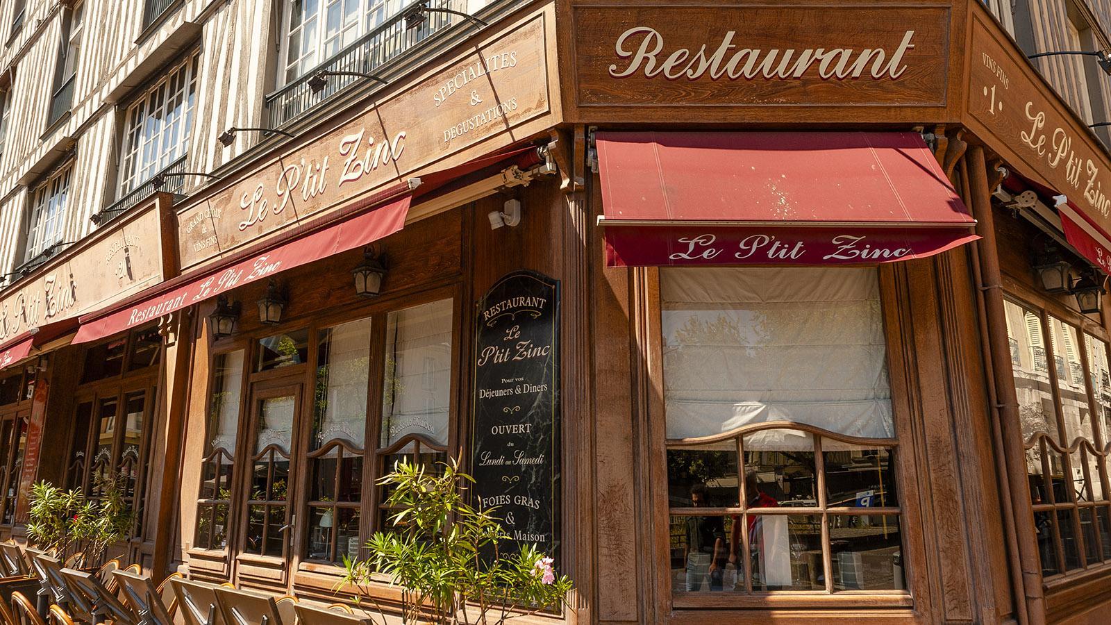 Rouen: Le P'tit Zinc. Foto: Hilke Maunder
