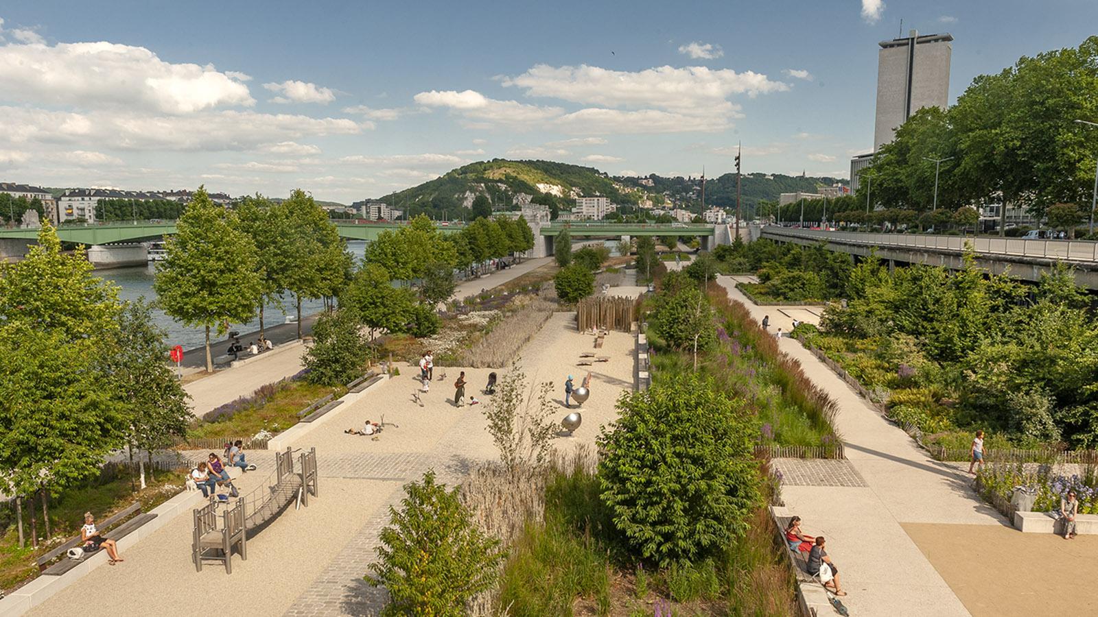 Das linke Ufer der Seine in Rouen. Foto: Hilke Maunder