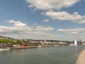 Rouen: der Blick vom Pont Gustave Flaubert. Foto: Hilke Maunder