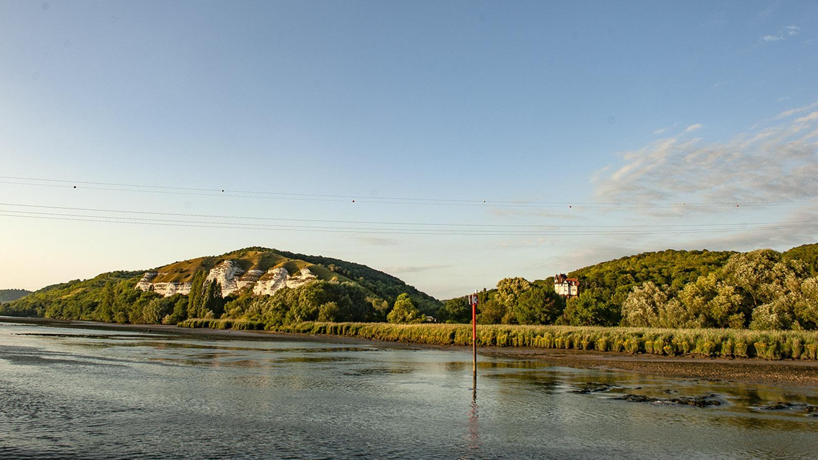 Die Seine zwischen Les Andelys und Rouen am frühen Abend. Foto: Hilke Maunder