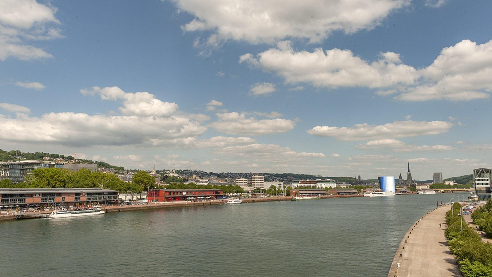 Rouen: Stadtblick vom Pont Flaubert. Foto: Hilke Maunder