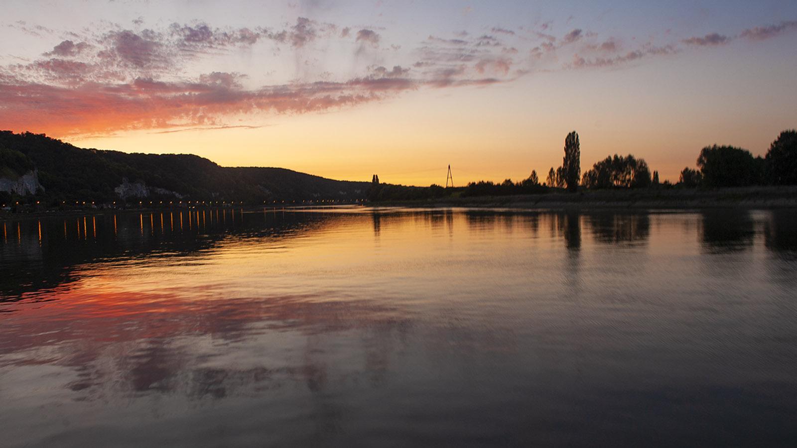 Seine Comtesse. Romantisch: der Sonnenuntergang im Tal der Seine. Foto: Hilke Maunder