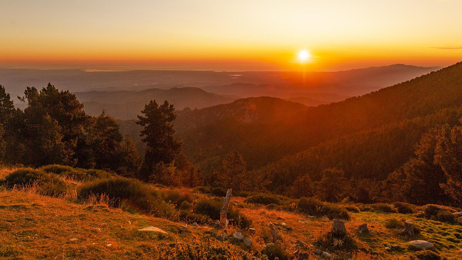 Canigó: Sonnenaufgang beim Refuge des Cortalets. Foto: Hilke Maunder