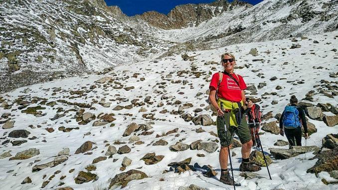 Canigó: Pla de Cady nach dem ersten Neuschnee von Anfang September. Foto: Hilke Maunder