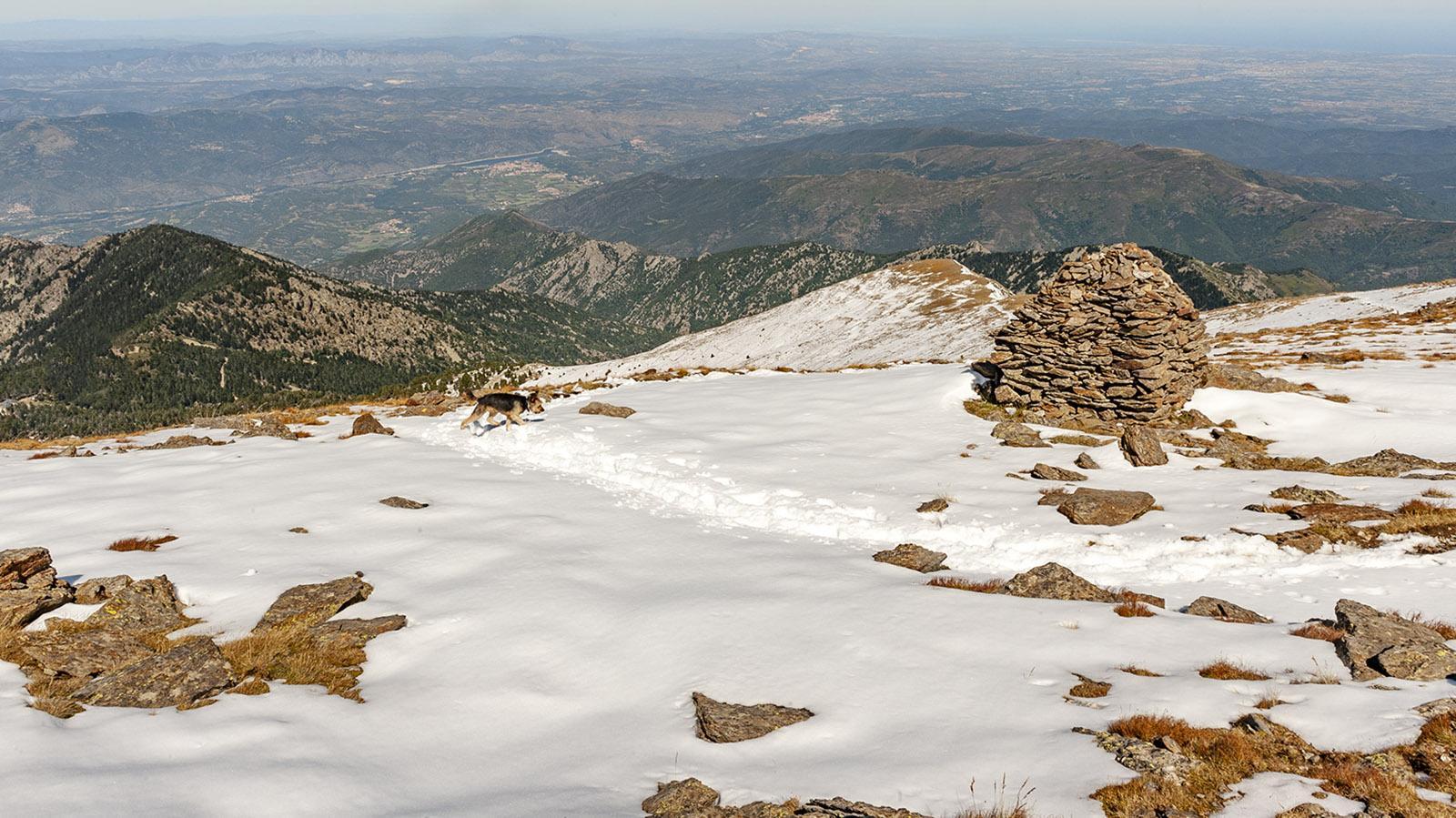 Canigo: Cairn der Épaule de Barlet. Foto: Hilke Maunder