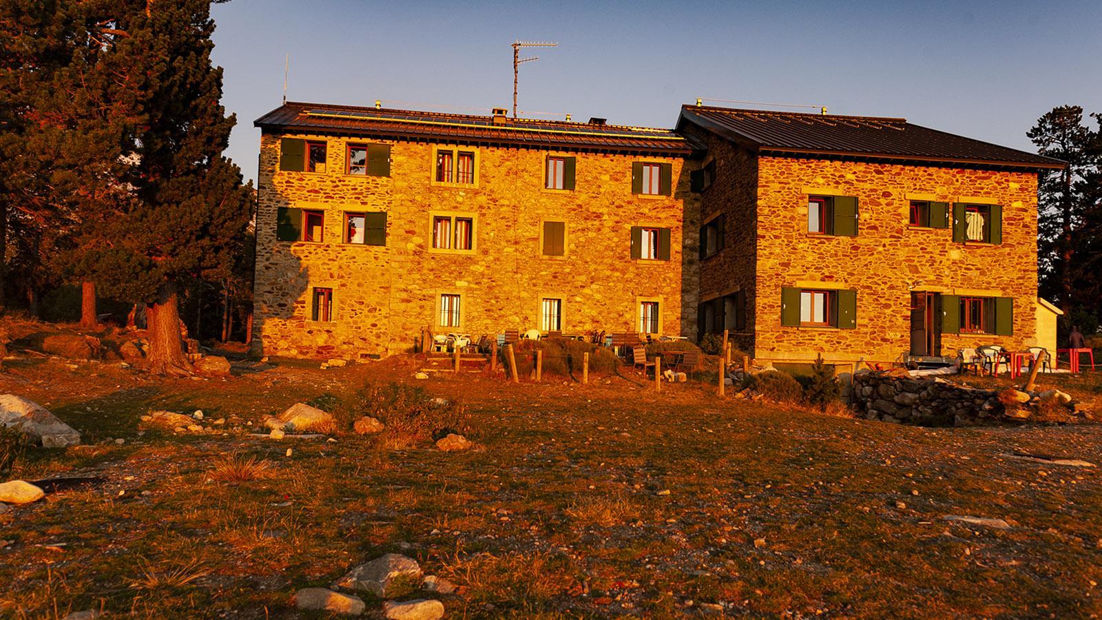 Canigó: Morgenstimmung am Refuge des Cortalets. Foto: Hilke Maunder